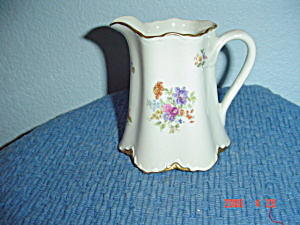 Warwick Gold Scalloped Floral Pattern Creamer