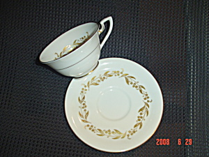 Royal Worcester Saguenay Footed Cups And Saucers