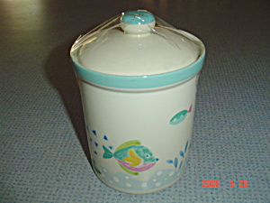 Mikasa Studio Nova Barrier Reef Covered Sugar Canister