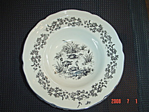 Tabletops Unlimited New England Toile Bowls - Ducks