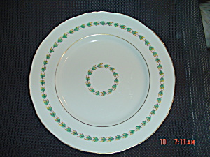 Royal Worcester Gold Rimmed Dinner Plates Green/yellow