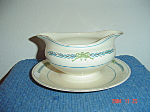Myott Athens Gravy Boat W/attached Tray