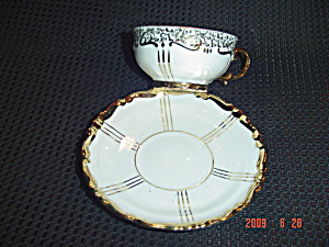 Mitterteich Demi Cups And Saucers - Us Zone Germany