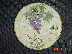 Tabletops Lifestyles Sorrento Salad Plates - Grapes