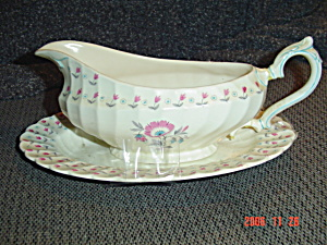Myott Olde Chelsea Gravy Boat And Matching Under Tray