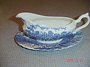 Myott-staffordshire Royal Mail Gravy Boat And Underplate