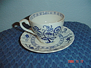 J & G Meakin Blue Nordic Cups And Saucers