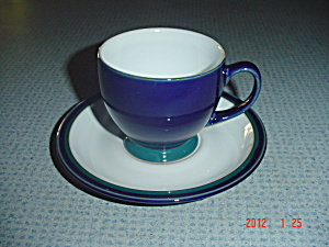 Denby Regatta Cups And Saucers - Mint