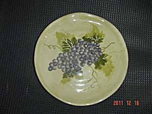 Tabletops Gallery Cabernet Purple Grape Round Salad