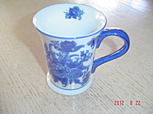 Made In China Large Flow Blue Reproduction Mugs - Very Pretty