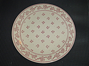 Johnson Bros. Laura Ashley Petite Fleur Burgundy/pink Dinner Plates