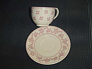 Johnson Bros. Laura Ashley Petite Fleur Burgundy/pink Cups/saucers