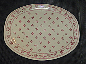 Johnson Bros. Laura Ashley Petite Fleur Burgundy/pink Oval Platter