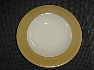 Tabletops Unlimited Parizzi Tan Rimmed Soup/salad/pasta Bowls