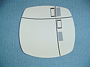 Coventry Tetrus Grey And Black Square Salad Plates
