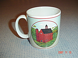 Sakura Country Life Red Barn W/silo Mug