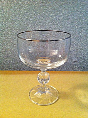 Import Assoc Claudia Tall Champagne W/platinum Rims Bohemia Crystal