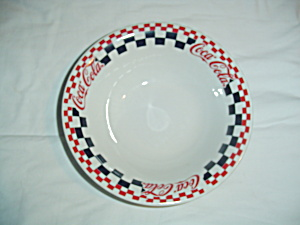 Gibson Coca-cola Serving Bowl - Black And Red Checks