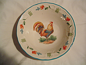 Noritake Epoch Red Rooster Serving Bowl