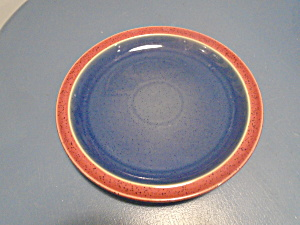 Denby Harlequin Red/blue Dinner Plates