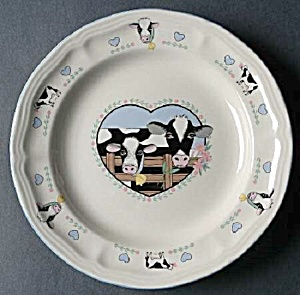 Tienshan Buttercup Dinner Plates - Cows