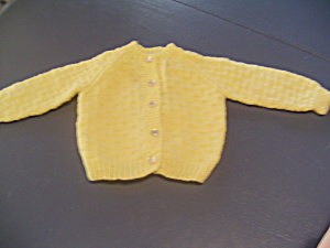Crissy Or Other 22-24 In. Doll Yellow Cardigan Sweater