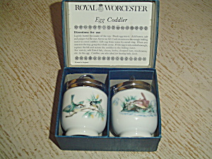 Royal Worcester Egg Coddlers In Box