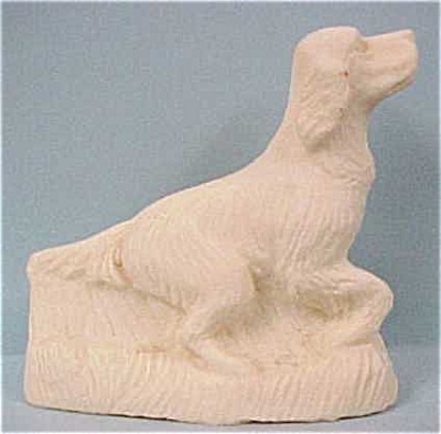 1930s/1940s Stone Dust Resin Setter Dog