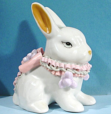 Porcelain Rabbit With Porcelain Ribbons