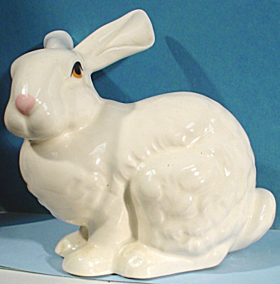 Ceramic White Bunny Rabbit