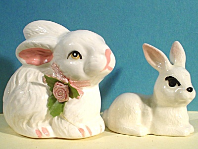 Two Bunny Rabbit Figures