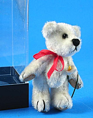 Dollhouse Miniature White Teddy Bear