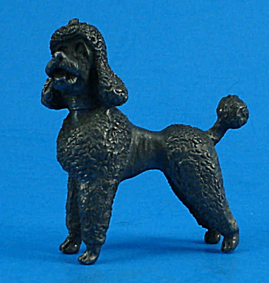 Miniature Pewter Poodle