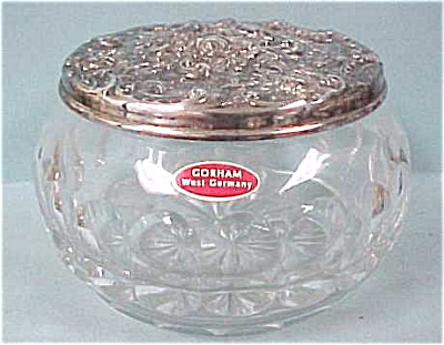 Gorham West Germany Crystal & Silver Pin Dish