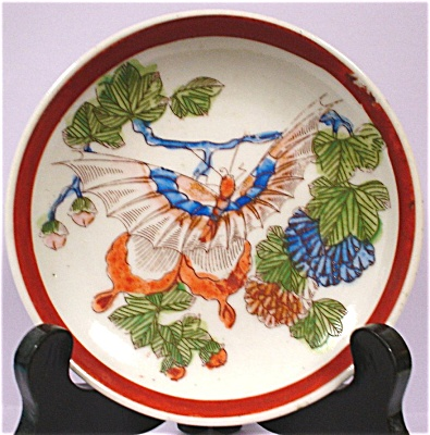 1910s/1920s Small Nippon Butterfly Plate