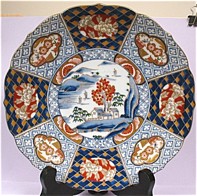 Handsome Handpainted Medallion Style Oriental Plate
