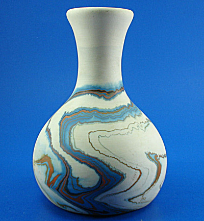 Nemadji Vase - Blues