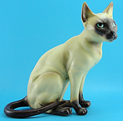1960s Josef Original Sitting Siamese Cat