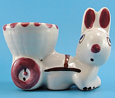 Rio Hondo Pottery Rabbit With Cart