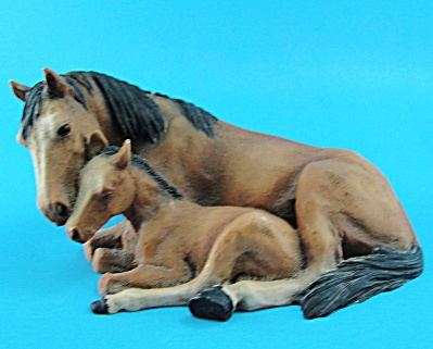Castagna Lying Mare And Foal