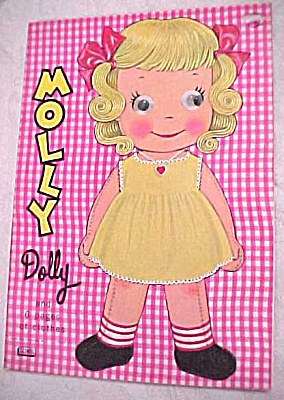 1965 Lowe #2757 Paper Doll Molly Dolly