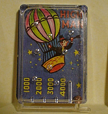 1970 Cracker Jack Prize Toy High Man Game Pinball