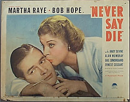 Pair 1939 Movie Lobby Cards Bob Hope & Martha Raye.