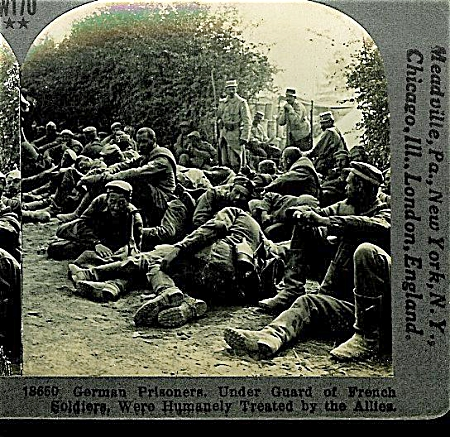 Stereoview - Wwi German Prisoners