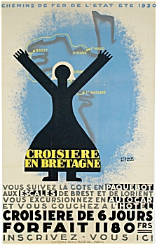 1930 Francis Bernard French Rail Poster - Original