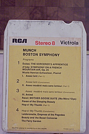 Munch/boston Symphony