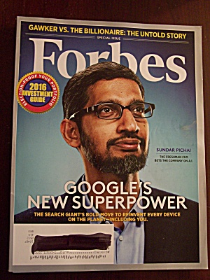 Forbes, Volume 197, No. 9, June 29, 2016