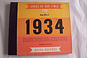 Song Hits Of 1934