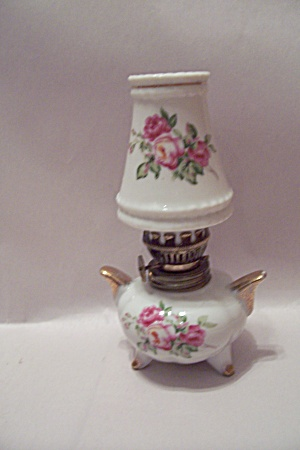 Trimont Ware Porcelain Miniature Oil Lamp