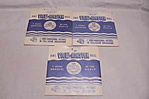 Set Of 3 View-master Reels On The Midwest, Usa